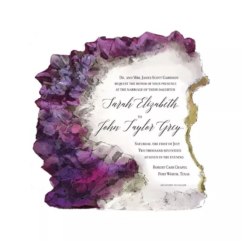 Illustrated Invitation - Amethyst
