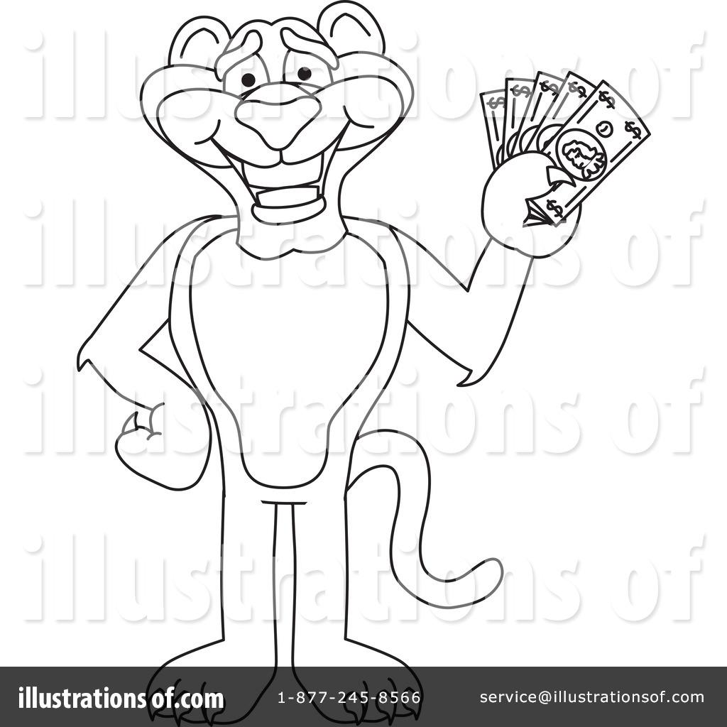 Big Cat Mascot Clipart