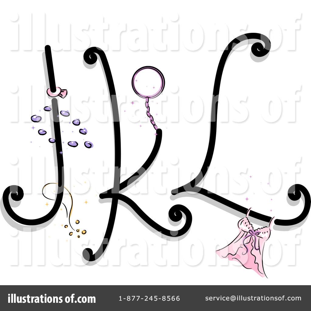 Feminine Letters Clipart
