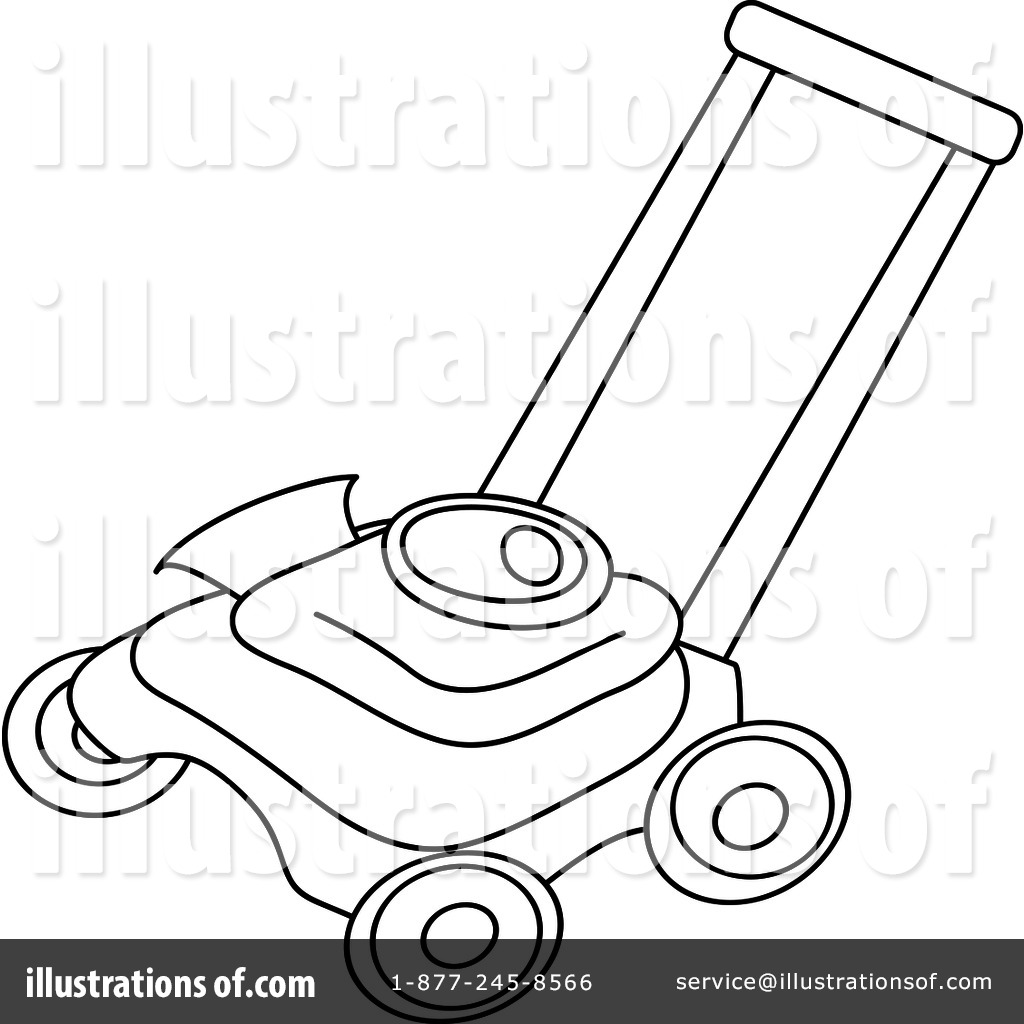 Push Mower Coloring Pages