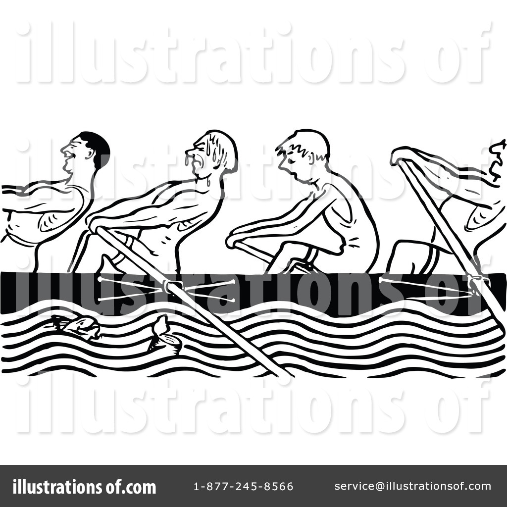 Rowing Team Clipart