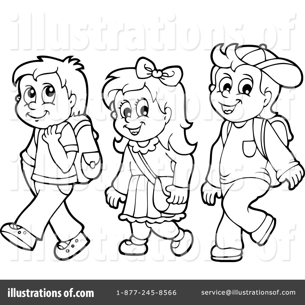 Students In Line Clip Art Black And White Pictures To Pin