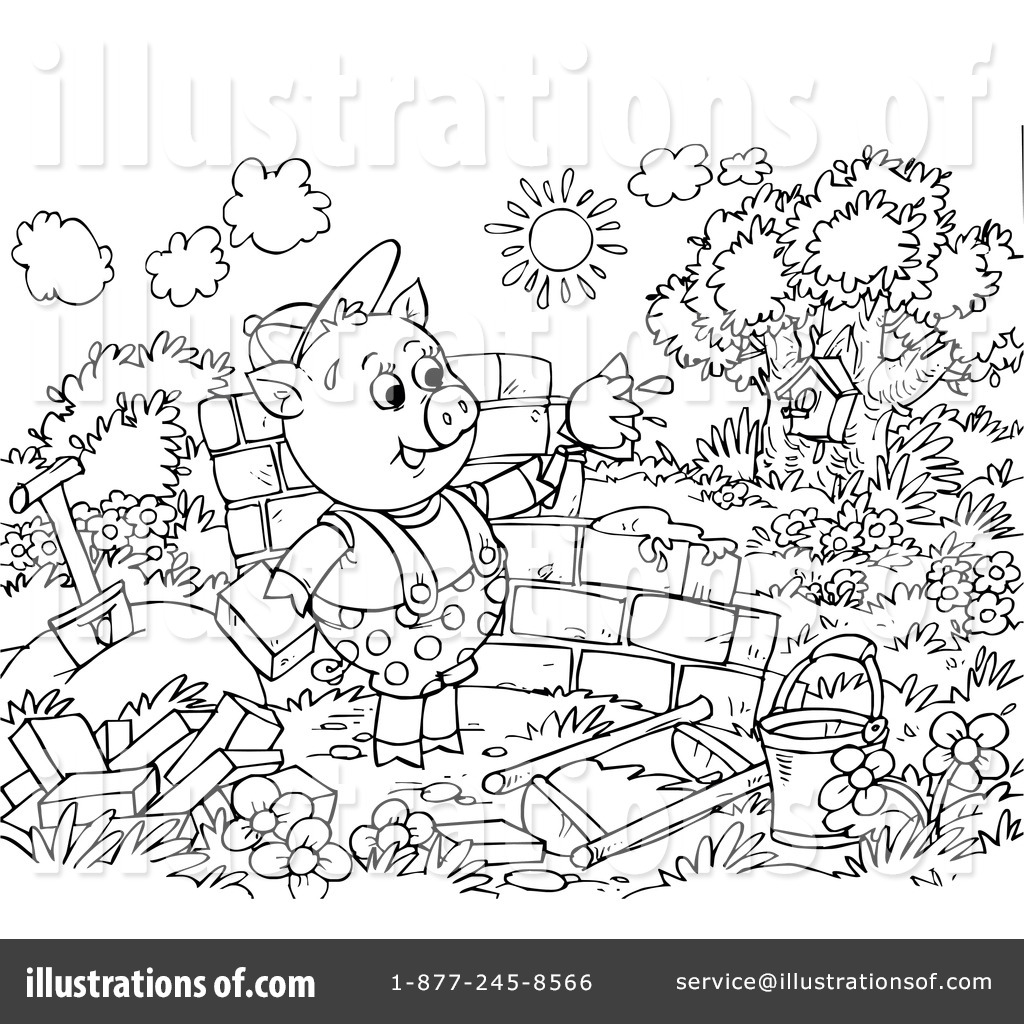 Straw House Coloring Page Coloring Pages