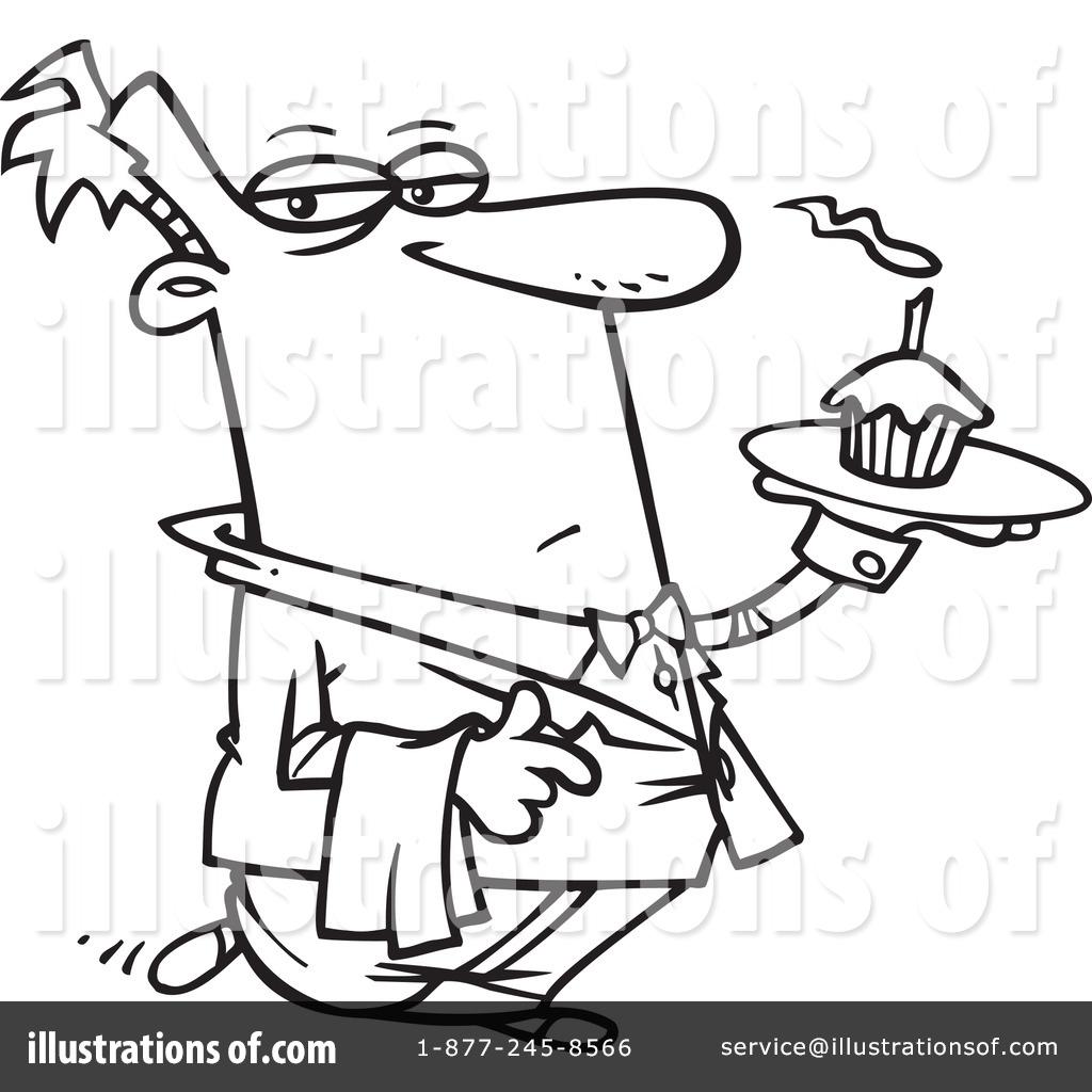 Waiter Clipart By Ron Leishman
