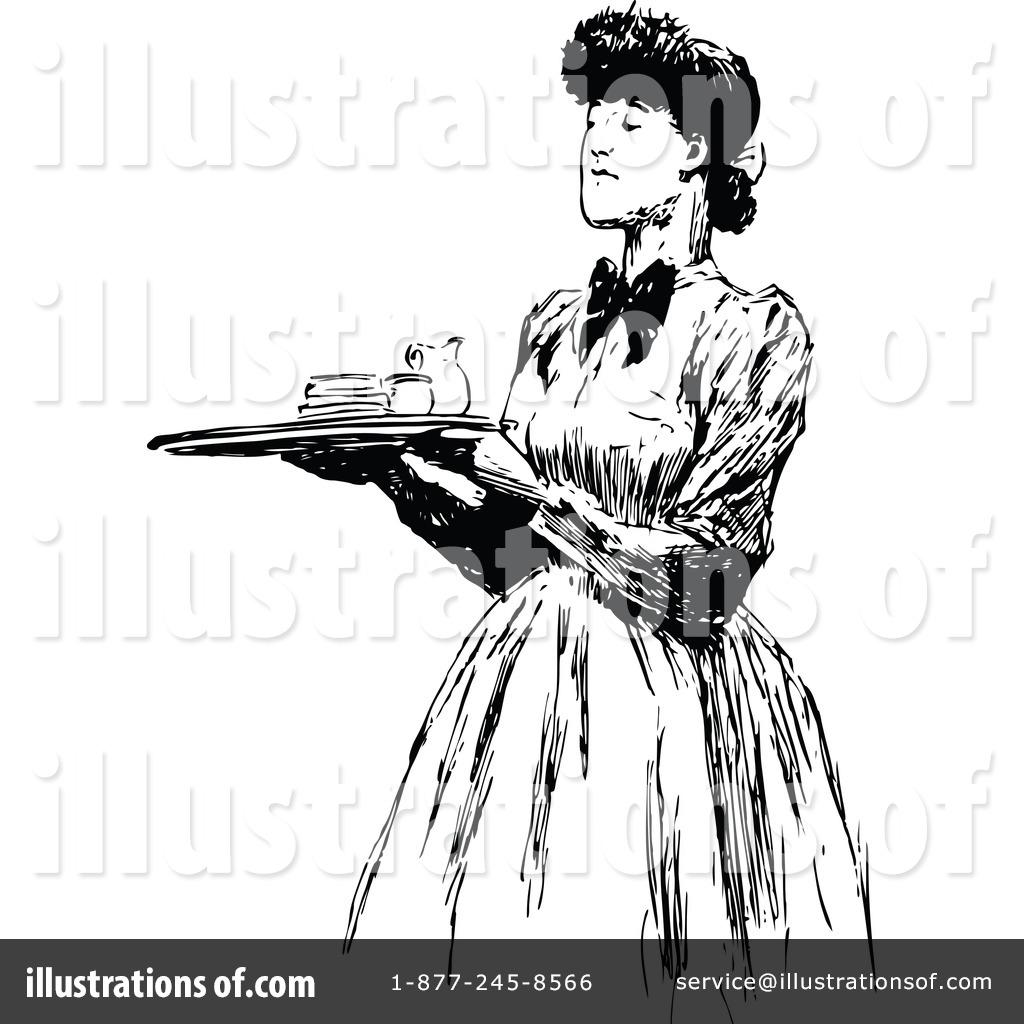 Waitress Clipart