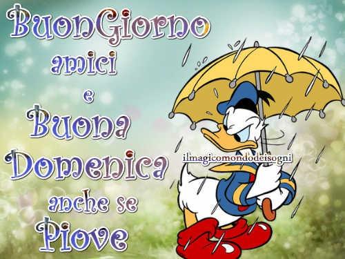 Cartoline Buongiorno E Buona Domenica Piove Il Magico Mondo Dei