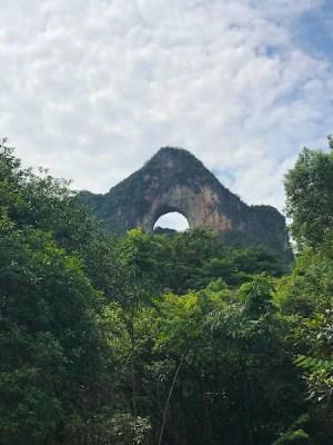 Yangshuo montagna della luna piena