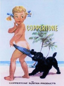 Una famosa pubblicità della Coppertone