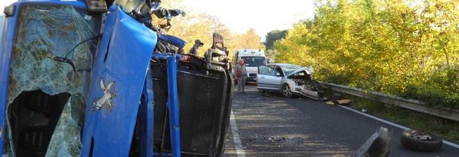 L'incidente di oggi sulla Cassia