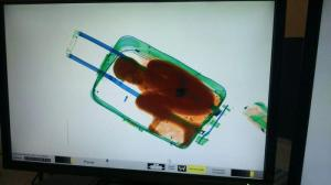Sub-Saharian immigrant aged eight years in suitcase