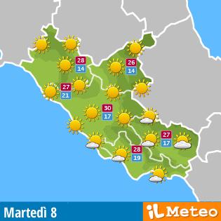 Meteo Lazio domani