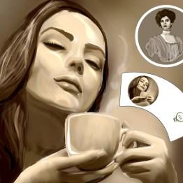 caffè, Arte tazzina