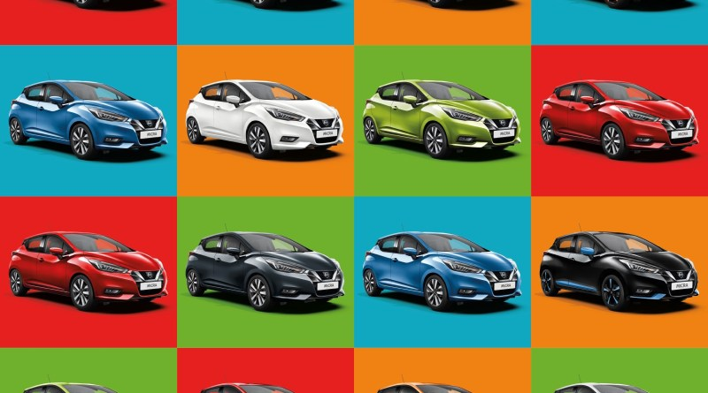 Colori auto, Nissan; l'86% degli automobilisti hanno colori non in linea alla personalità