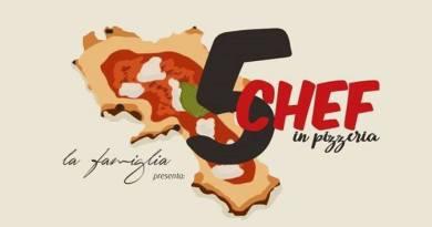 """5 chef per 5 pizze - cena evento su invito alla pizzeria """"La famiglia"""""""