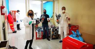 """l'associazione """"Tra Cielo e Mare"""" consegna mascherine, giocattoli e uova di cioccolato al Santobono Pausilipon"""