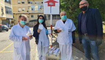 EMERGENZA CORONAVIRUS, ORDINE COMMERCIALISTI CASERTA  DONATE MASCHERINE ALL'OSPEDALE COVID DI MADDALONI