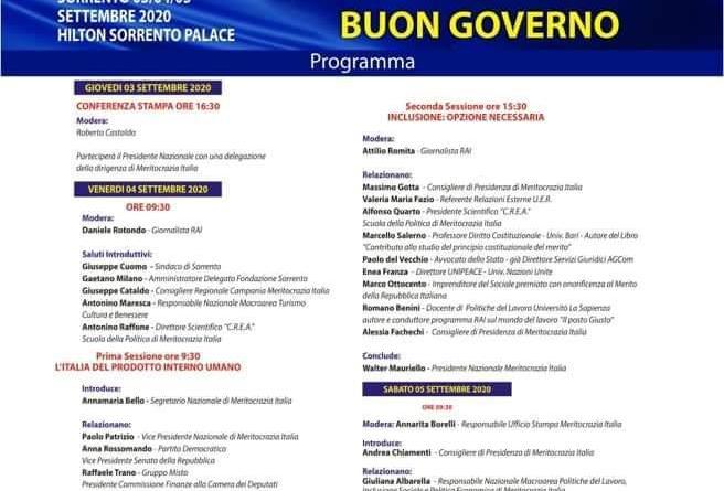 II Congresso Nazionale di Meritocrazia Italia, definito il programma del 4 settembre: previsto l'intervento di Cacciari