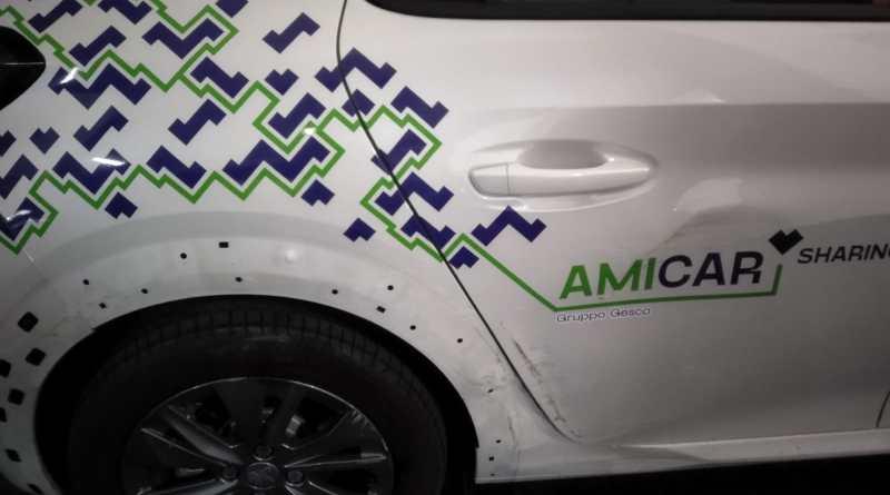 Amicar Sharing: auto vandalizzate e rubate