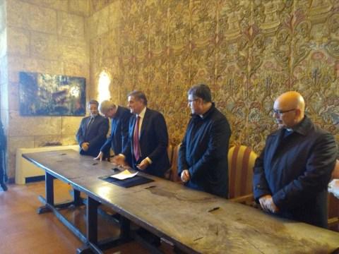 firmata convenzione cappella palatina -Giovanni Ardizzone - Corrado Lorefice