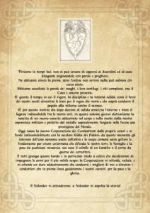Costituzione della nuova Gilda dei Combattenti