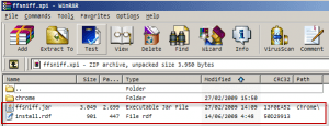 ffsniff.xpi file list
