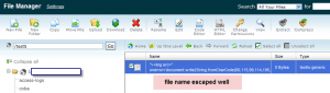file list not vulnerable