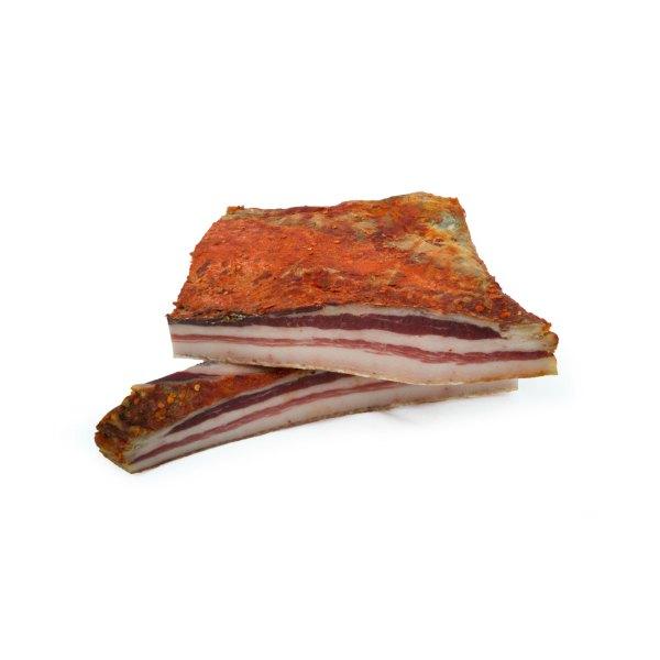 Pancetta di maiale nero calabrese