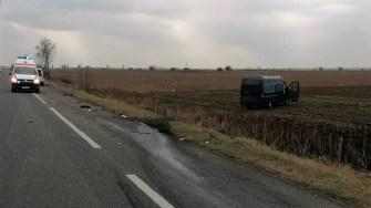 Accident rutier, cu patru răniți, petrecut pe DN2 - E85, la ieșire din Urziceni. FOTO IPJ Ialomița