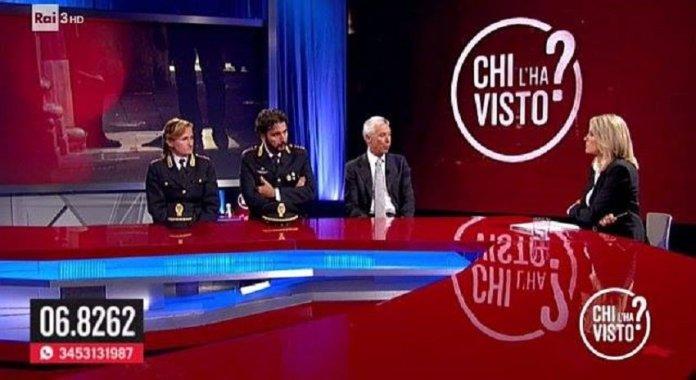 Il gioco della fata di fuoco, Chi l'ha visto - Federica Sciarelli e Vittorio Rizzi (Capo DAC)