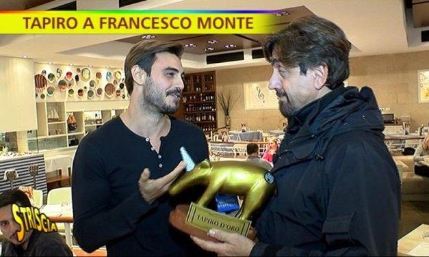 Striscia la Notizia: Tapiro d'oro a Francesco Monte | Video