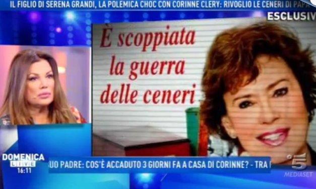 Corinne Clery: La guerra delle ceneri con il figlio di Serena Grandi | VIDEO