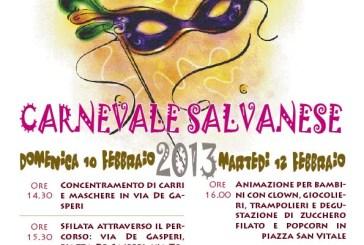 Ritorna il Carnevale Salvanese