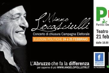 Il Pd chiude la campagna elettorale con un concerto di Mimmo Locasciulli