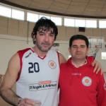 Saverio Celenza e il presidente D'Angelo, Amici del Basket