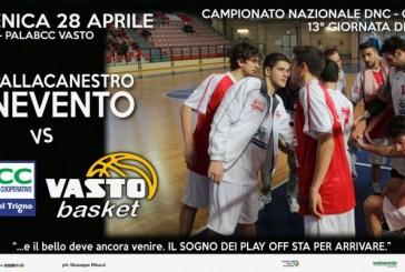 BCC Vasto Basket, sfida contro il Benevento per consolidare il secondo posto, poi i play off