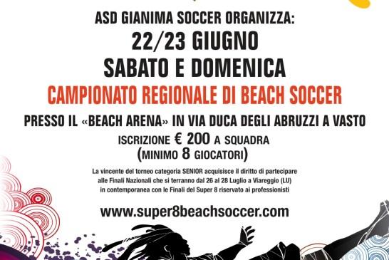 Beach soccer, locandina campionato regionale giugno 2013