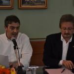 Gianluca Castaldi e Luciano Lapenna all'incontro no al petrolio