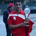 Cristian Stivaletta con il trofeo, 1 mag 13
