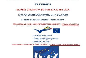 Opportunità in Europa, il seminario informativo