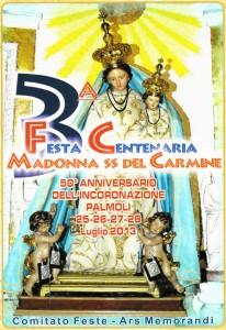 Madonna del Carmine a Palmoli, luglio 2013, locandina