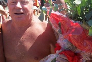 Marinucci a nuoto da Punta Penna a Vasto