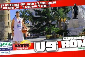Domenica la prima di due gare casalinghe per la Bcc Vasto Basket