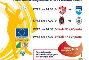 A Vasto dal 17 al 19 dicembre il Quadrangolare Internazionale Juniores