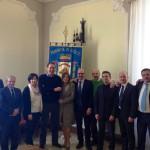 Il Presidente Di Giuseppantonio con gli Assessori