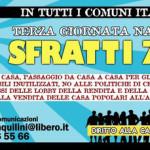 Unione Inquilini: terza giornata nazionale sfratti zero - locandina