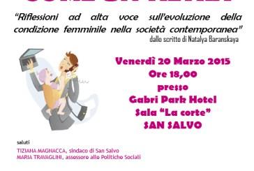 San Salvo: monologhi e dibattito per parlare della condizione della donna