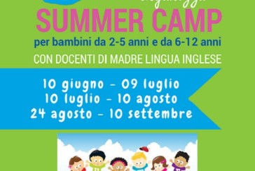 Primo summer camp a base d'inglese a Vasto