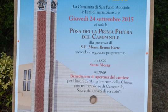 posa I pietra campanile Chiesa San Paolo_24_09_2015_026