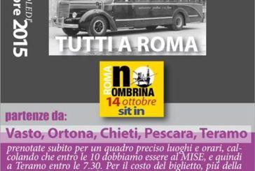 Si sposta a Roma dinanzi al Ministero per lo Sviluppo economico la protesta contro Ombrina Mare