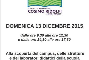 Scerni: scuola aperta all'Agrario 'Cosimo Ridolfi'